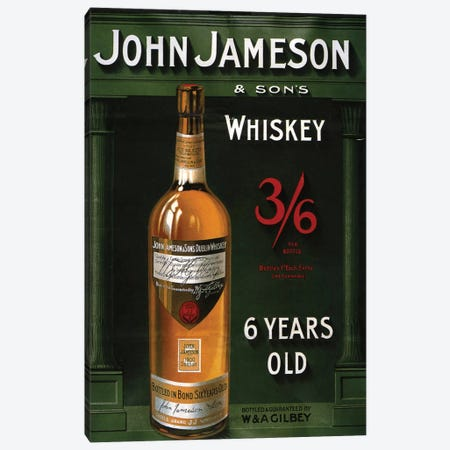1906 John Jameson Whiskey Advert Canvas Print #TAA6} by The Advertising Archives Canvas Art