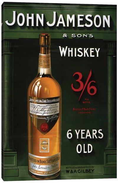 1906 John Jameson Whiskey Advert Canvas Art Print