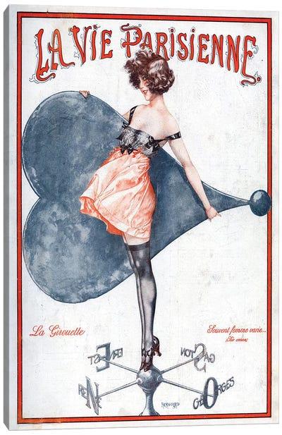 1923 La Vie Parisienne Magazine Cover Canvas Art Print