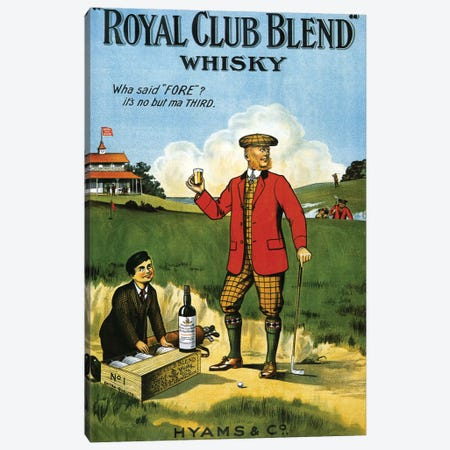 1908 Royal Club Whisky Advert Canvas Print #TAA7} by The Advertising Archives Canvas Art