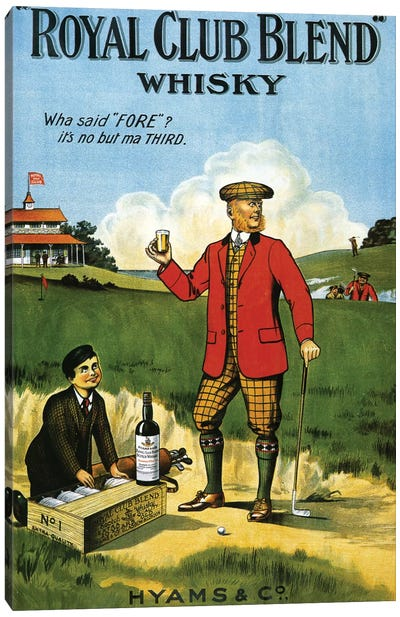 1908 Royal Club Whisky Advert Canvas Art Print