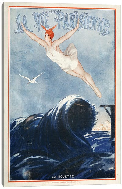 1923 La Vie Parisienne Magazine Cover Canvas Art Print