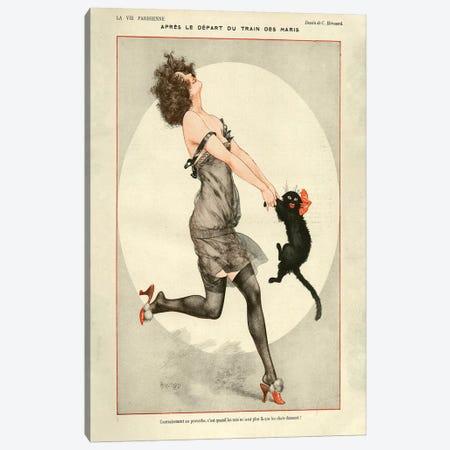 1923 La Vie Parisienne Magazine Plate Canvas Print #TAA81} by Cheri Herouard Canvas Art Print