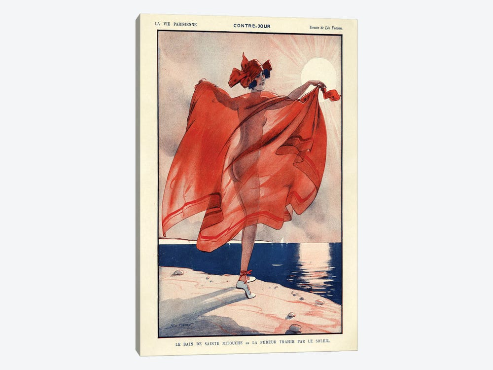 1923 La Vie Parisienne Magazine Plate by Leo Fontan 1-piece Canvas Print