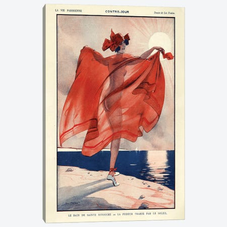 1923 La Vie Parisienne Magazine Plate Canvas Print #TAA84} by Leo Fontan Canvas Artwork