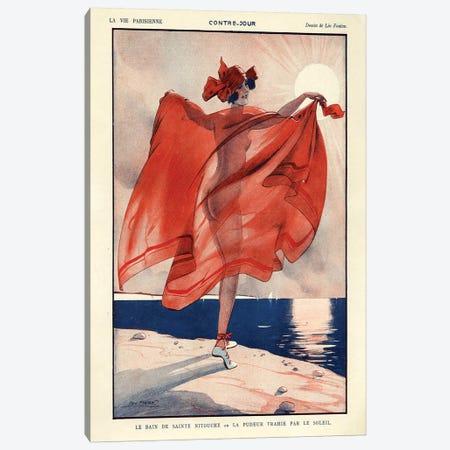 1923 La Vie Parisienne Magazine Plate Canvas Print #TAA84} by Leo Fontan Canvas Artwork