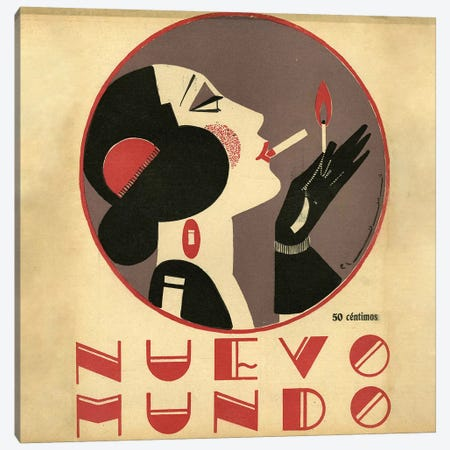 1923 Nuevo Mundo Magazine Cover Canvas Print #TAA87} by The Advertising Archives Canvas Artwork