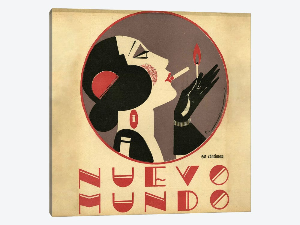1923 Nuevo Mundo Magazine Cover by The Advertising Archives 1-piece Canvas Art