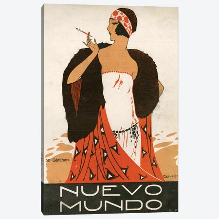 1923 Nuevo Mundo Magazine Cover Canvas Print #TAA88} by The Advertising Archives Canvas Art Print