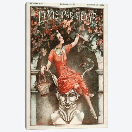 1924 La Vie Parisienne Magazine Cover Canvas Print #TAA91} by Cheri Herouard Canvas Art