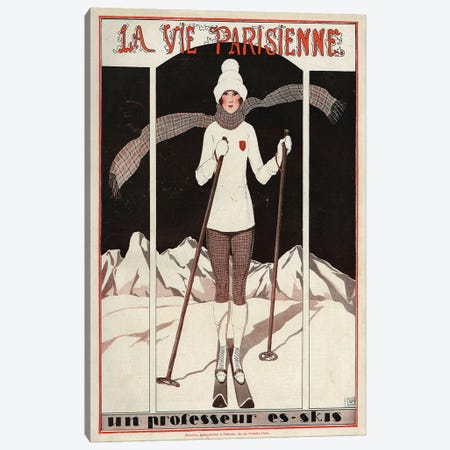 1924 La Vie Parisienne Magazine Cover Canvas Print #TAA92} by Georges Leonnec Canvas Wall Art