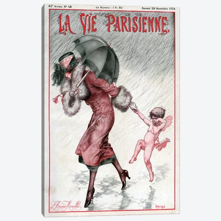 1924 La Vie Parisienne Magazine Cover Canvas Print #TAA97} by The Advertising Archives Art Print