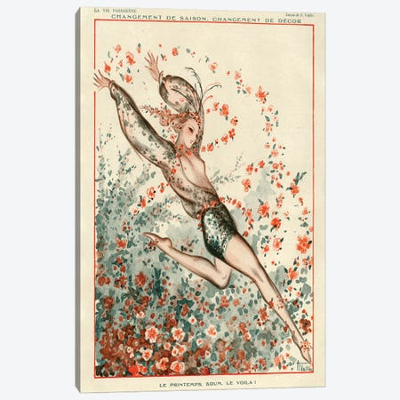 1924 La Vie Parisienne Magazine Plate Canvas Print #TAA98} by Armand Vallee Canvas Artwork