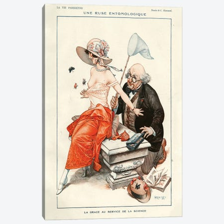 1924 La Vie Parisienne Magazine Plate Canvas Print #TAA99} by Cheri Herouard Canvas Art