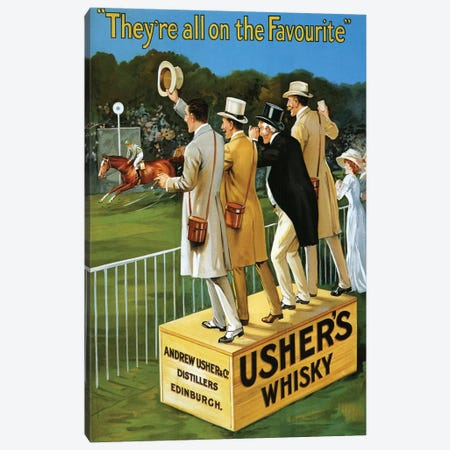 1911 Usher's Whisky Advert Canvas Print #TAA9} by The Advertising Archives Canvas Art Print
