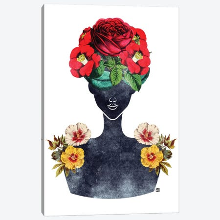 Flower Crown Silhouette III Canvas Print #TAB1} by Tabitha Brown Canvas Art