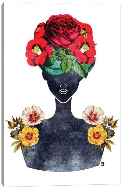 Flower Crown Silhouette III Canvas Art Print