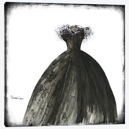 Black Dress I Canvas Print #TAC1} by Tamara Cohen Canvas Art Print