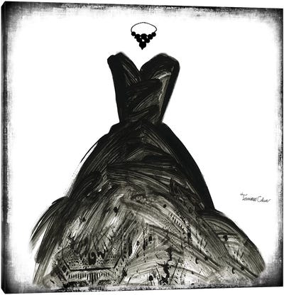 Black Dress II Canvas Art Print