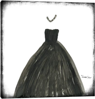 Black Dress III Canvas Art Print