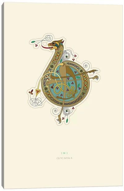 B Celtic Initial Canvas Art Print
