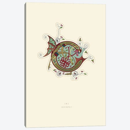 C Celtic Initial Canvas Print #TAD103} by Thoth Adan Canvas Artwork