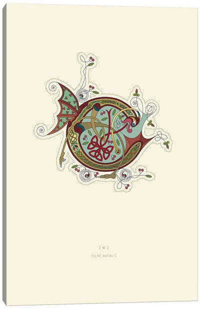 C Celtic Initial Canvas Art Print