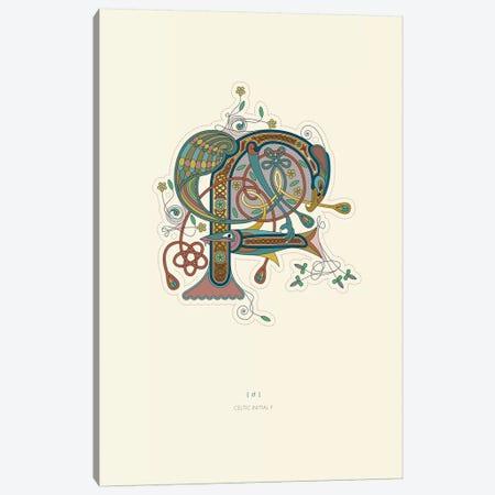 F Celtic Initial Canvas Print #TAD106} by Thoth Adan Canvas Art Print