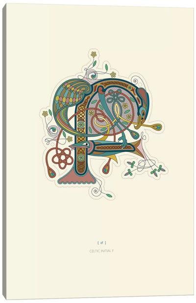 F Celtic Initial Canvas Art Print