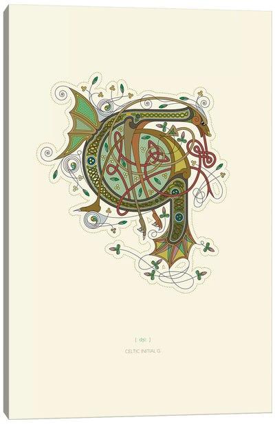 G Celtic Initial Canvas Art Print