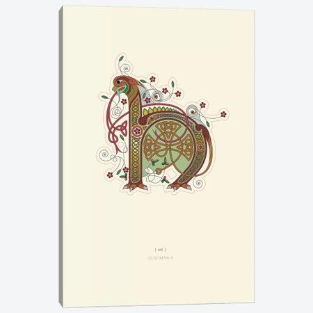 H Celtic Initial Canvas Print #TAD108} by Thoth Adan Canvas Artwork