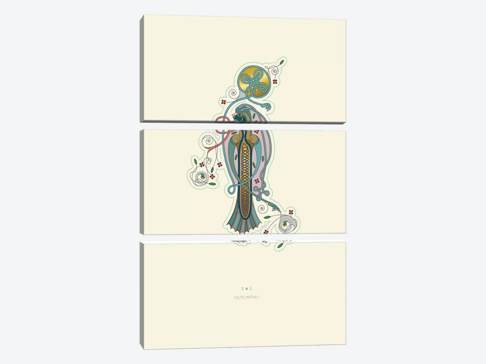 I Celtic Initial by Thoth Adan 3-piece Art Print