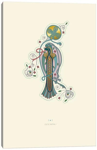 I Celtic Initial Canvas Art Print