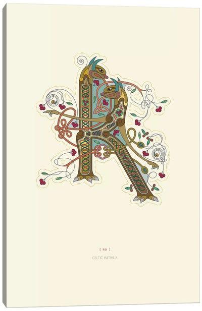 K Celtic Initial Canvas Art Print