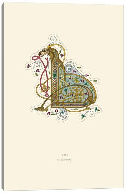 L Celtic Initial Canvas Art Print