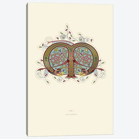 M Celtic Initial Canvas Print #TAD113} by Thoth Adan Canvas Art Print