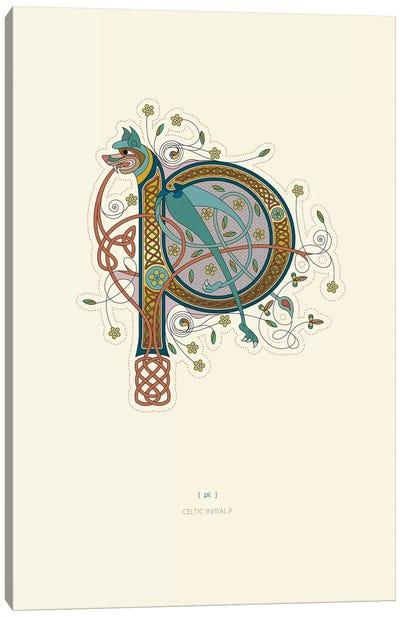 P Celtic Initial Canvas Art Print