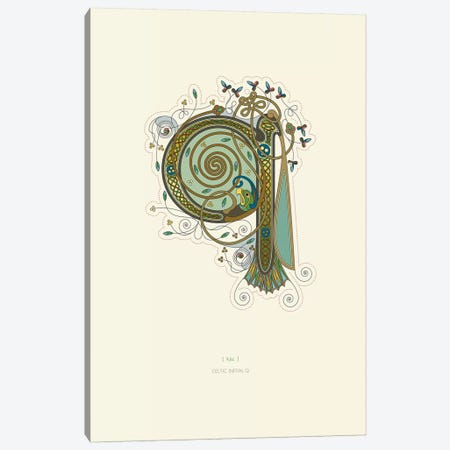 Q Celtic Initial Canvas Print #TAD117} by Thoth Adan Canvas Artwork