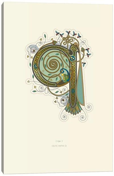 Q Celtic Initial Canvas Art Print