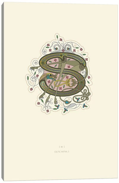 S Celtic Initial Canvas Art Print