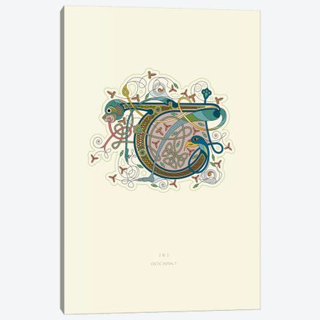 T Celtic Initial Canvas Print #TAD120} by Thoth Adan Canvas Art