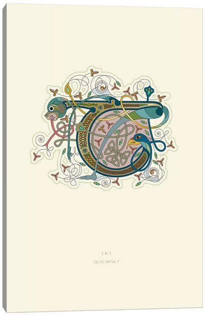 T Celtic Initial Canvas Art Print