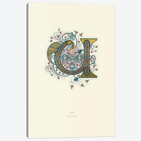 U Celtic Initial Canvas Print #TAD121} by Thoth Adan Canvas Artwork
