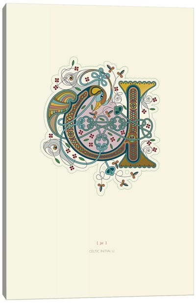 U Celtic Initial Canvas Art Print