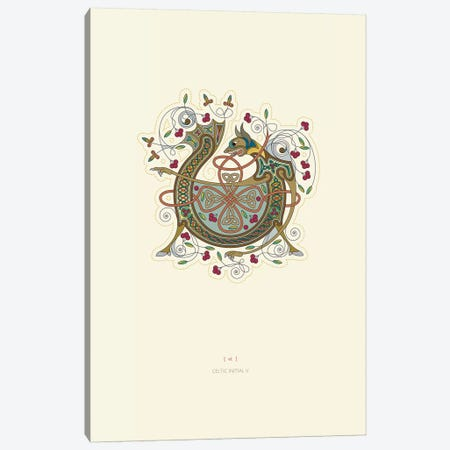 V Celtic Initial Canvas Print #TAD122} by Thoth Adan Canvas Artwork