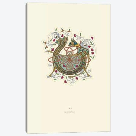 V Celtic Initial Canvas Print #TAD122} by Thoth Adan Canvas Artwork