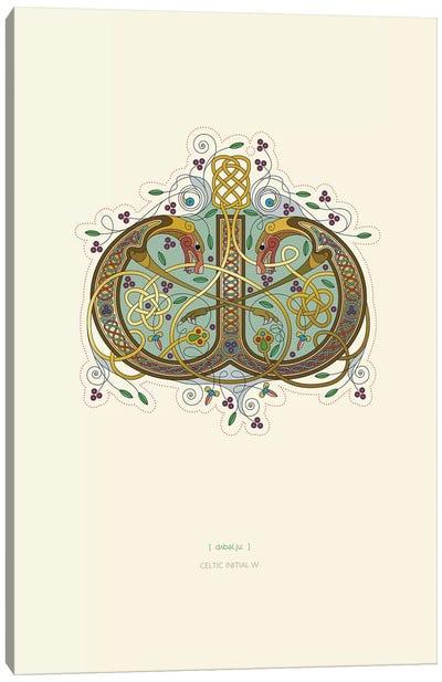 W Celtic Initial Canvas Art Print