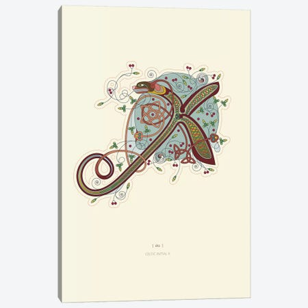 X Celtic Initial Canvas Print #TAD124} by Thoth Adan Canvas Art Print