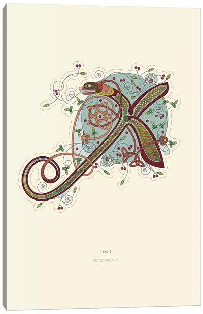 X Celtic Initial Canvas Art Print