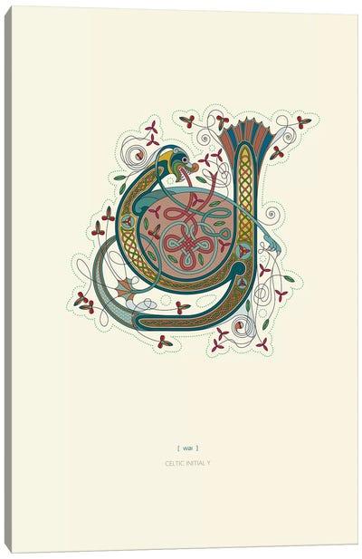 Y Celtic Initial Canvas Art Print